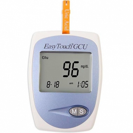 Анализатор глюкозы, холестерина и мочевой кислоты EasyTouch GCU mg301-2e